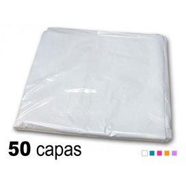 Capa plástico antiestático 98x106cm - peinador un solo uso (50 unidades)
