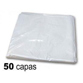 Capa plástico antiestático 98x136cm - peinador un solo uso (50 unidades)